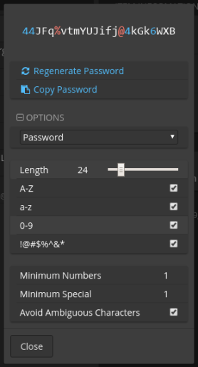 Bitwarden-02-Password Generator