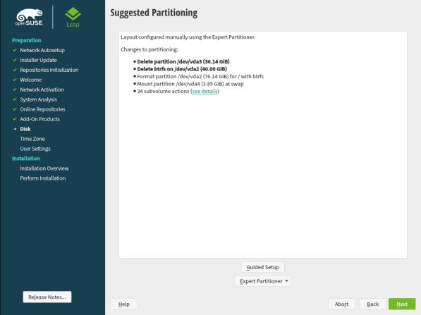 openSUSE Leap 15.1 Installation 15