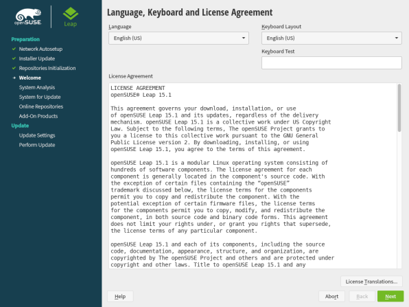 openSUSE Leap 15.1 Upgrade 1