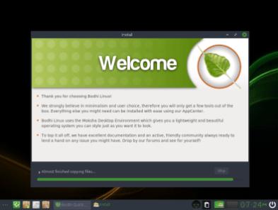 Bodhi Linux 14 Installation Process
