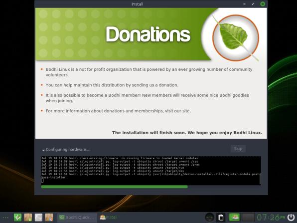 Bodhi Linux 16 Installation Process