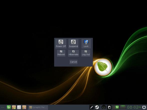 Bodhi Linux 22 Leave Dialog Box