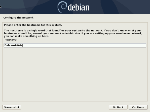Debian 10 6 Installation