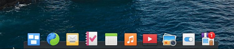 elementary OS 6.0 applicaiton dock