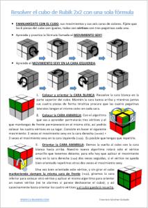 Resolver el cubo de Rubik 2x2 con una sola fórmula