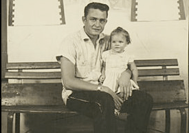 Johnny Cash and daughter Rosanne
