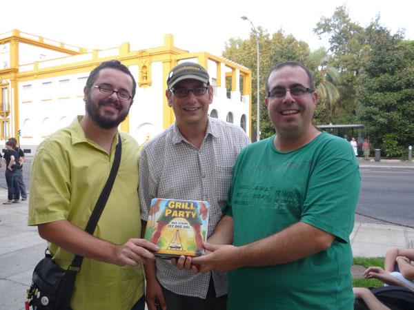Los orgullosos autores con Stefan Stadler en el centro