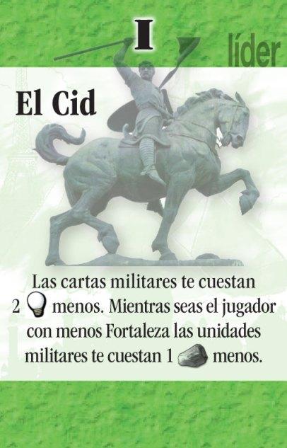 El Cid, una de las cartas promocionales