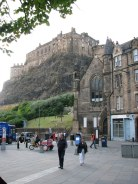 Edinburgh Castle from Grassmarket