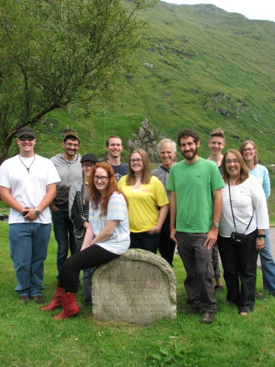 Group near Glen Croe, Highlands