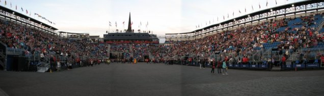 Inside the Royal Military Tattoo Stadium