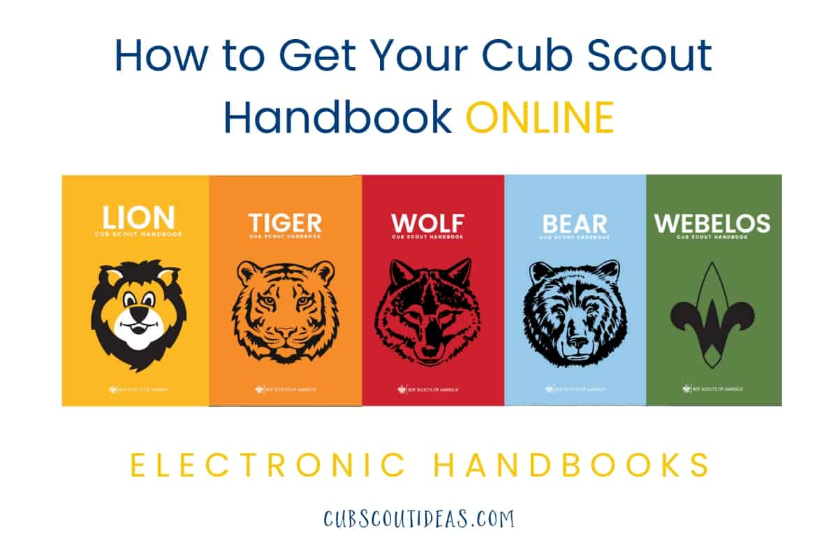 How To Get Your Cub Scout Handbooks Online