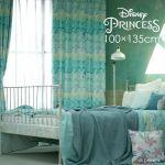 ディズニーカーテン アリエル プリンセス グラデーション シェル柄 遮光 ブルー ピンク プリンセスシェル おしゃれ おすすめ Disney