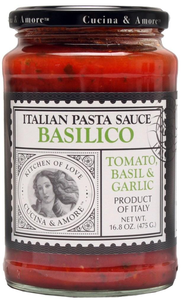 jar of Cucina & Amore Basilico Pasta Sauce