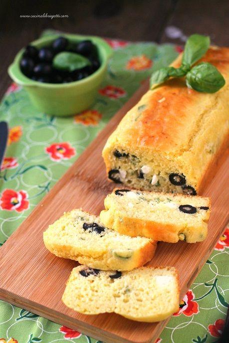 plumcake olive e feta