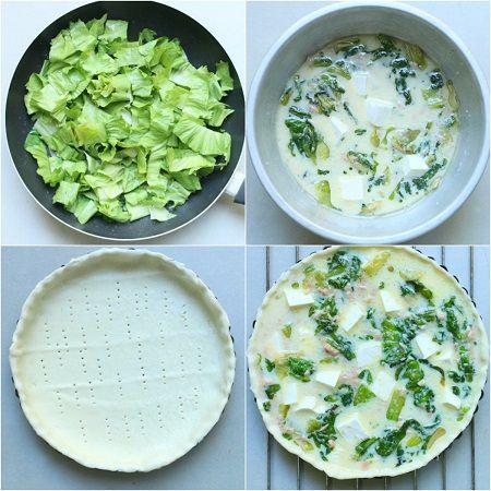 Torta salata tonno scarola e primo sale
