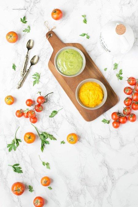 Spiedini di bocconcini di merluzzo con maionese verde e di cartote