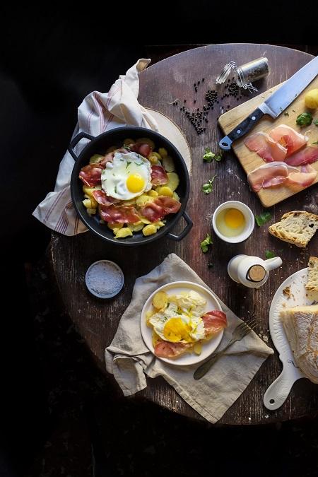 patate speck e uova