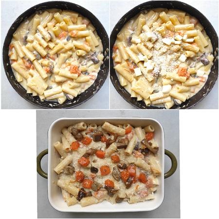 come si prepara la pasta al forno con zucca