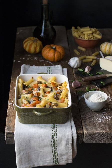 ricetta pasta al forno con la zucca