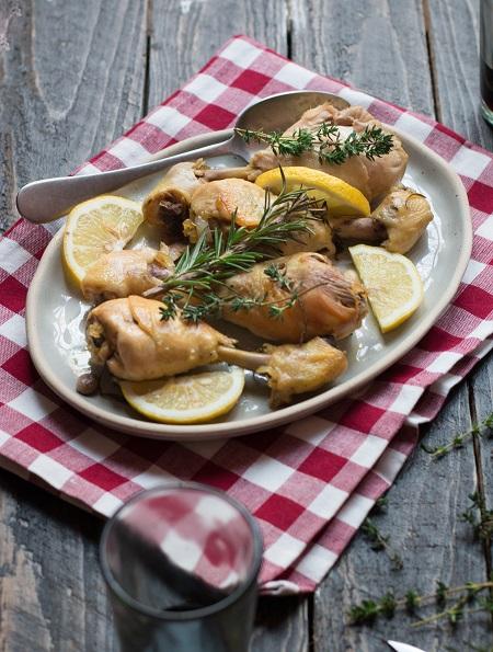 pollo alle erbe nella slow cooker