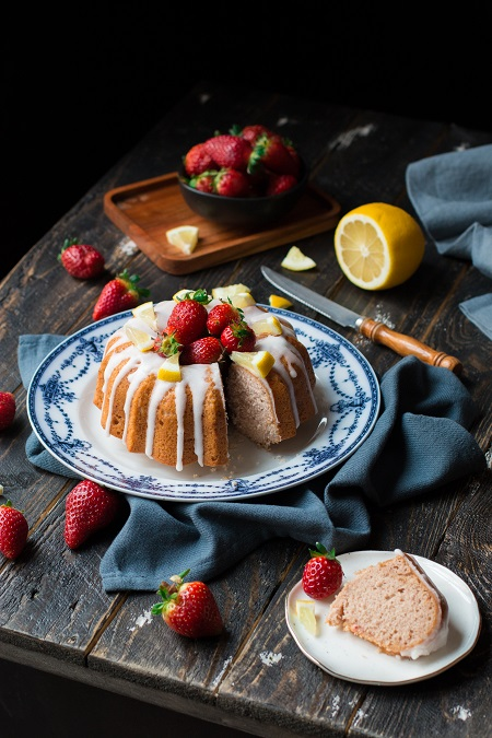ricetta torta di fragole e limone