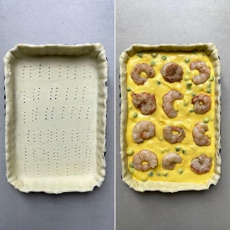 come si prepara la torta salata con piselli