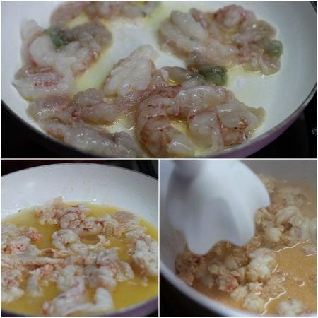 come si fa il risotto alla crema di scampi