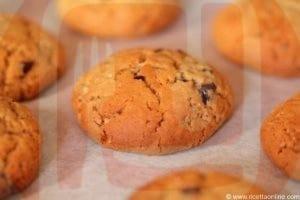 cookie americani con burro di arachidi e cioccolato