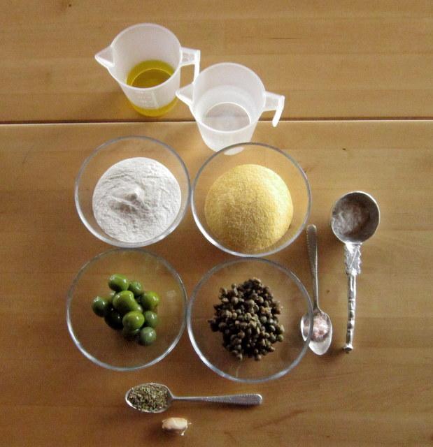 Schiaccia alle olive, senza glutine