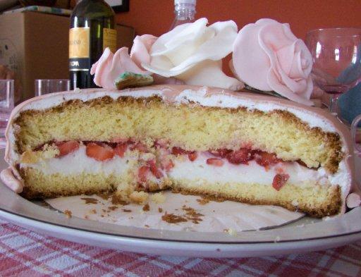 interno torta rose