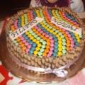 Torta smarties per compleanno