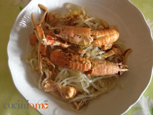 Zen Pasta spaghetti Shirataki con pesce