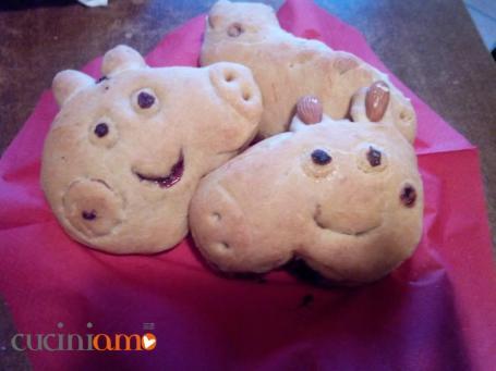 Peppa pig di pan brioche