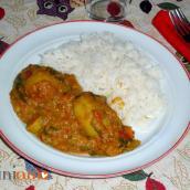 Curry di verdure e lenticchie rosse al cocco