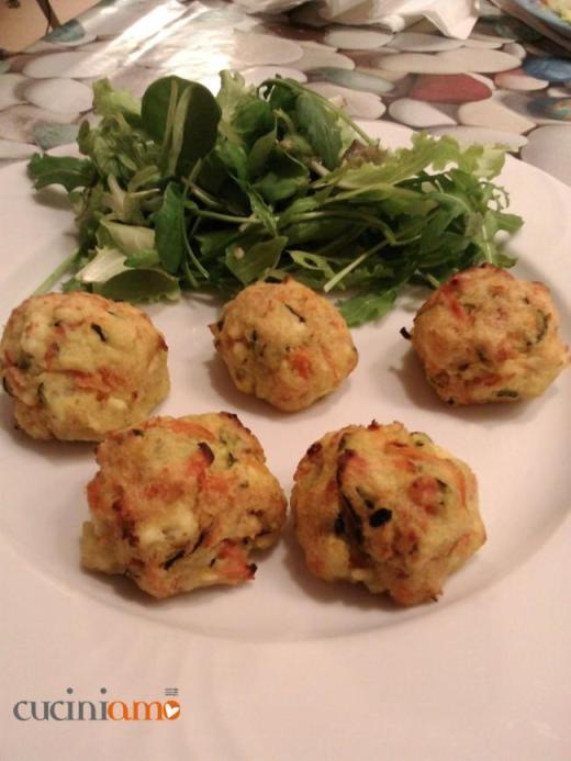 Polpette di Ricotta e  Verdura (carote, zucchine e patate)