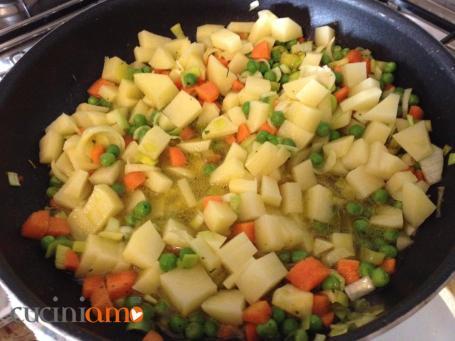 Misto di verdure spadellate