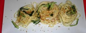Tagliolini bottarga e zucchine