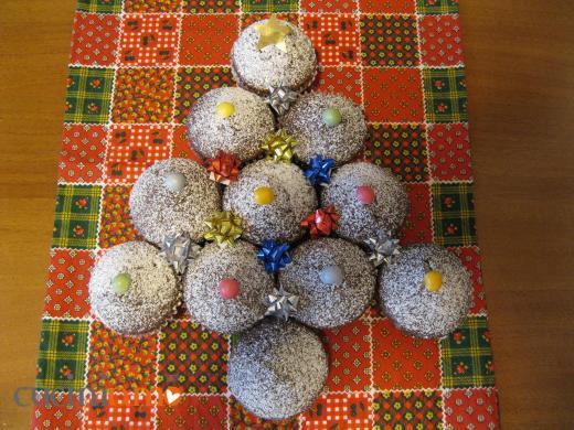 Alberello di Natale di muffins