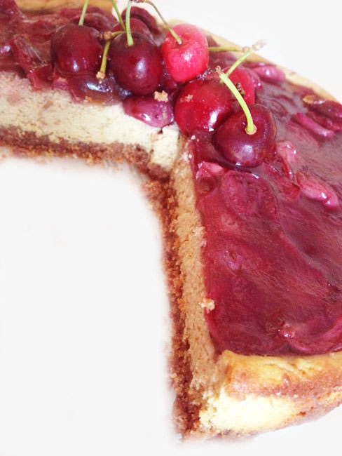 cherry cheesecake senza glutine