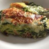 Lasagne con asparagi e coste