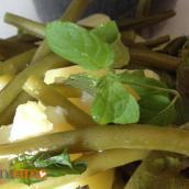 Insalata di fagiolini, patate e menta