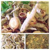 Latterini e porro fritti in tempura alla veneziana