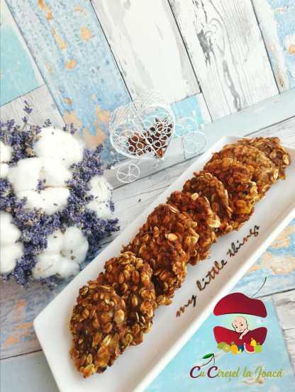 biscuiți delicioși cu cereale și fructe