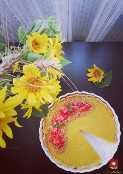 tarta cu crema de branza si jeleu de mango