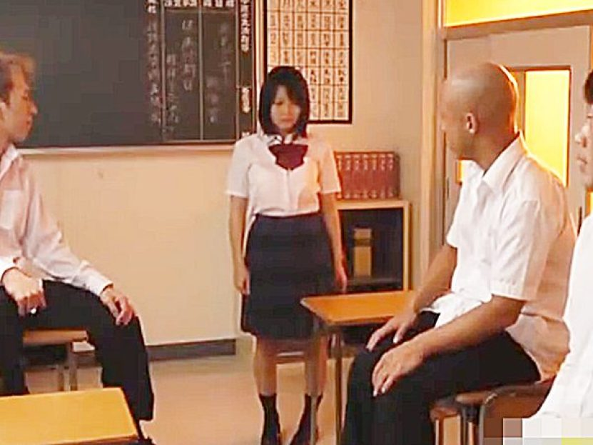 ◆陵辱|制服JK娘◆『教えてやるから、こっち来いョ!』不良たちに騙され放課後の教室へノコノコやって来る可愛い女子です..
