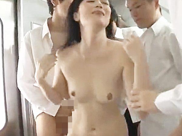 ★エロドラマ・女教師 凌辱・七海ひさ代★『いや、嫌々..!?』電車内で全裸にされ男子学生に犯される色白美熟女先生です..