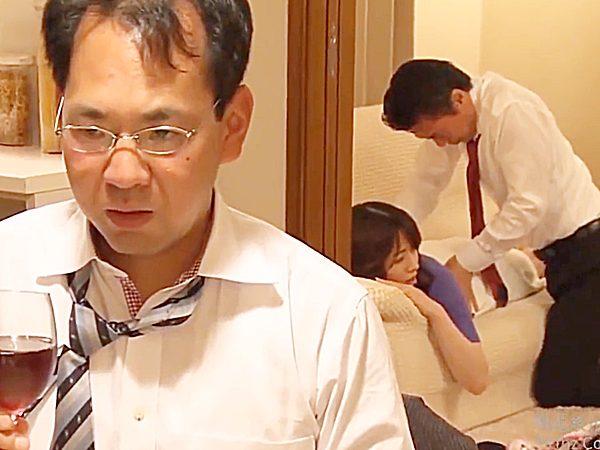 ◇エロドラマ・人妻NTR 三島奈津子◇『いいから飲めョ!』妻が社長にマッサージされ心配する部下に酒を飲ませる鬼畜上司です