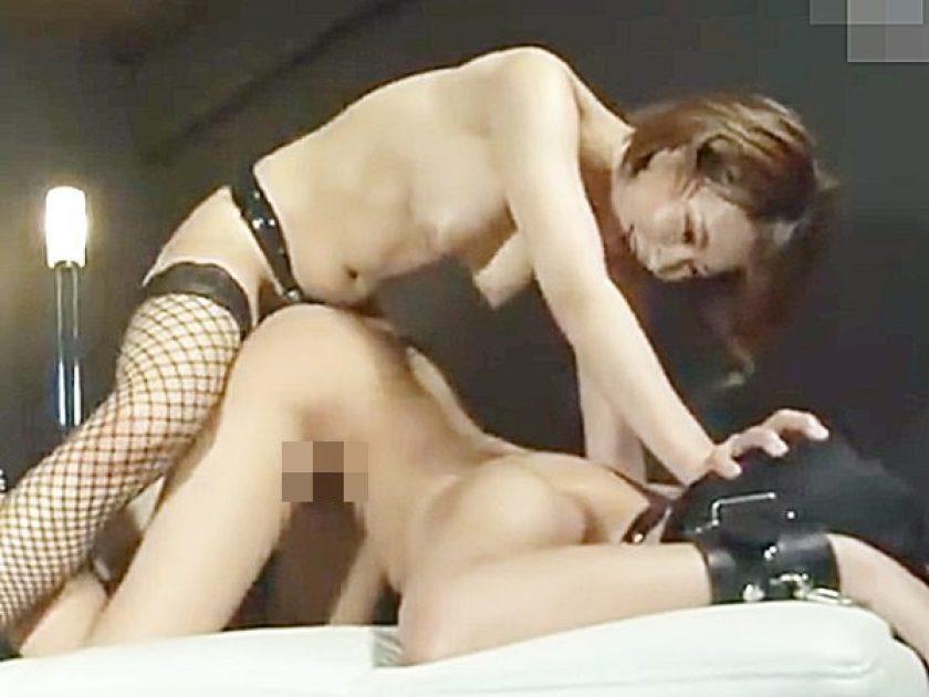 ◆ボンテージ女王様・M男奴隷 ペニバン・逆レイプ◆マスクM男のケツマンコを犯すドS美女!?S女のアナル責めにメスイキです