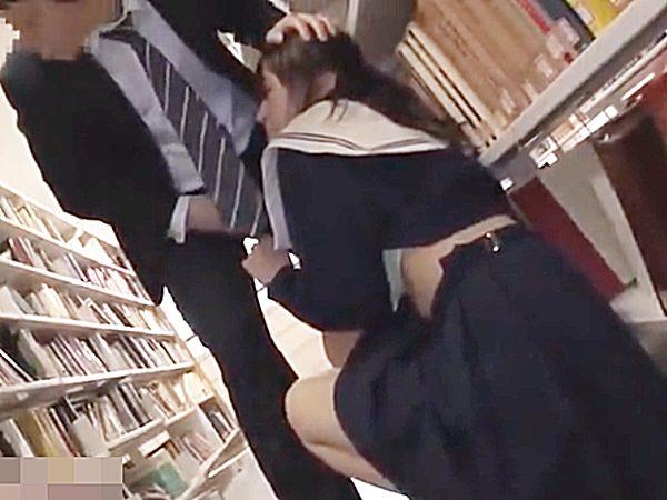 ◆陵辱・図書館 着衣セックス・セーラー服◆『静かにしろッ..』可愛い制服JK娘を襲う鬼畜男。。喉奥イラマに耐える少女です